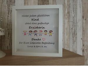 Details Zu Erzieherin Kindergarten Geschenk Tagesmutter Bilderrahmen Led Beleuchtet Bild