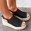 Women-039-s-Wedge-Heels-Espadrille-Flatform-Woven-Sandals-Ladies-Peep-Toe-Shoes-Size thumbnail 4