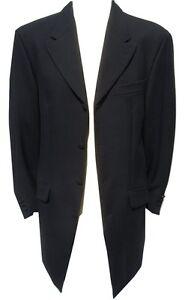 e8c71645 mens black prince edward coat wedding 3/4 drape jacket gothic goth ...