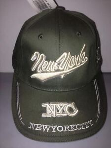 CAPPELLO-NEW-YORK-CITY-VERDE-SCURO-VISIERA-CAPPELLINO-HAT