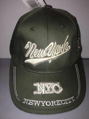 Cappello New York City Verde Scuro Visiera Cappellino Hat Delizie Amate Da Tutti