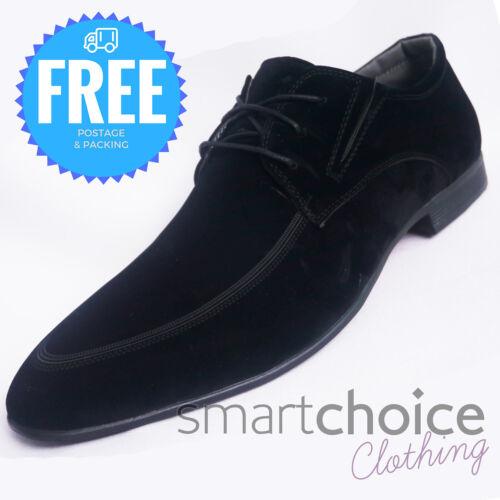 Hommes Noir Daim Synthétique Smart formel Lacets Décontractées Chaussures Chaussures