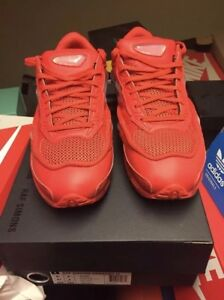 Details about Red adidas Raf simons original Ozweego 2 sneakers