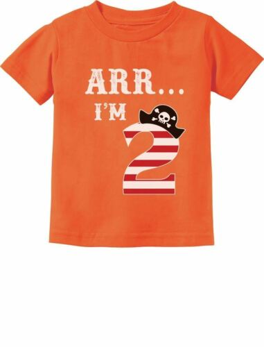 Arr I/'m 2 Pirate Birthday Party Two Year Old Toddler//Infant Kids T-Shirt Funny