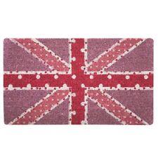 Bombay Duck Spotty Union Jack Pink Pastel Novelty Picture Doormat 75cm x 45cm