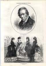 1872 The Late Earl Of Lonsdale Paris Fashions From March