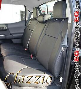 Clazzio Synthetic Leather Seat Covers (Front + Rear Rows) | 2005-2020 Toyota Tacoma Canada Preview