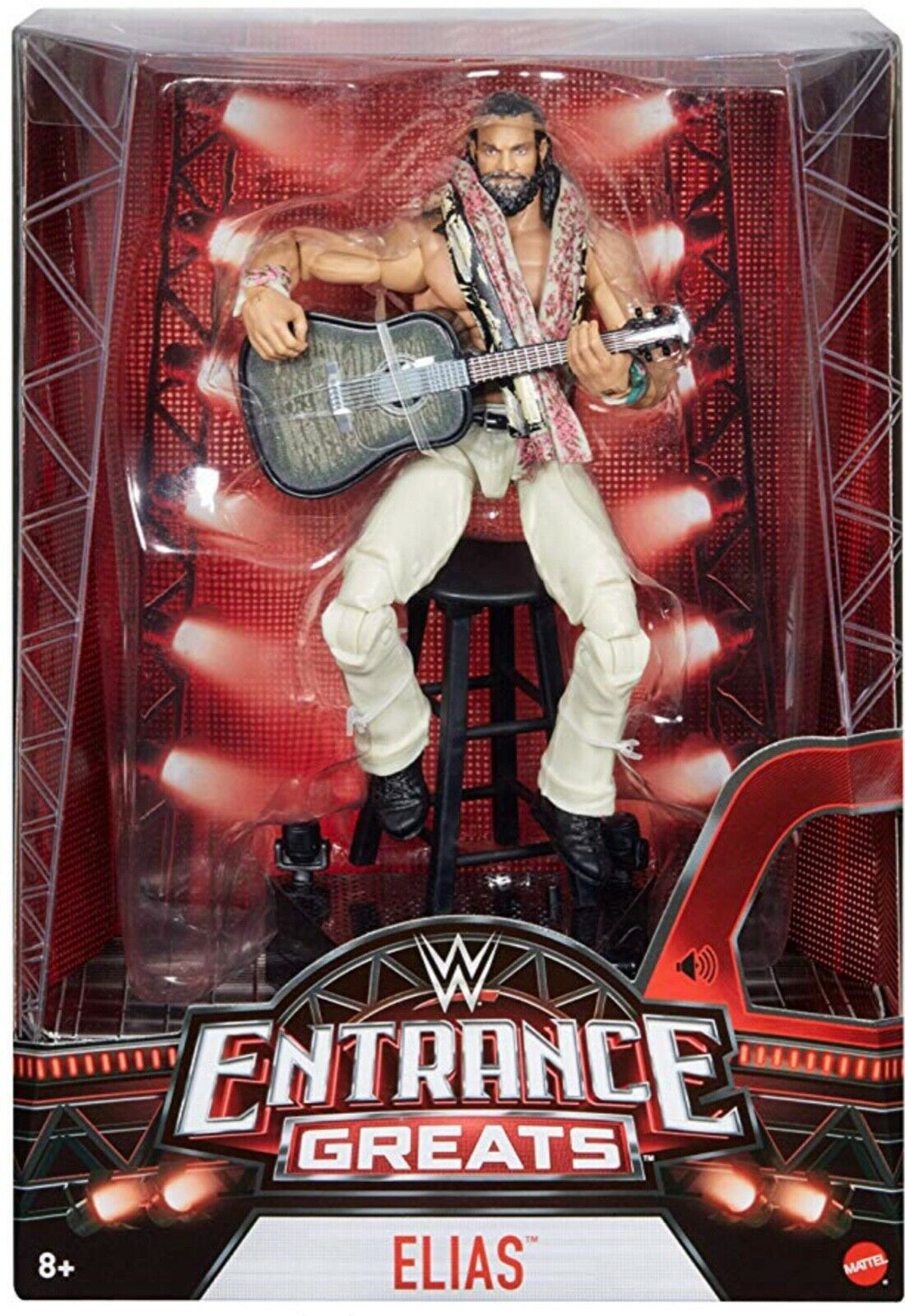 Wwe mattel action figure wrestling Entrance Greats Elias elite guitar