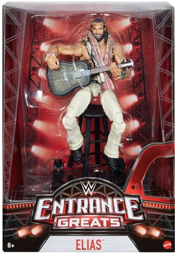 WWE MATTEL Wrestling Action Figure Entrance Greats Elias elite Guitar sampson