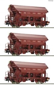 Roco-76179-HO-Gauge-SNCB-Tds-Hopper-Wagon-Set-3-IV