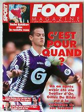 Foot Magazine du 17/01/1996; Gilles De Bilde/ Lorenzo Staelens/ Sacha Rytchkov