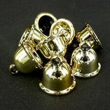 25 X CCB Plástico enorme De oro capuchones de cuentas de orificio Grande 20 X 22mm Navidad np12