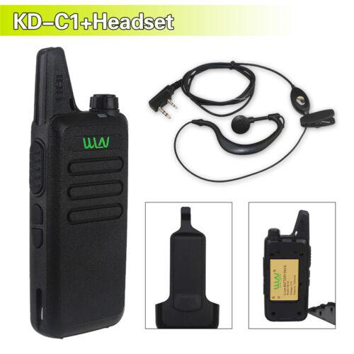 WLN KD-C1 16 Channel Walkie Talkie Ham Radio UHF 400-470 MHz Black 16CH Mini FM
