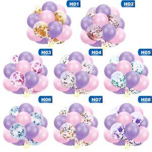 15Pcs-Set-Sequined-Confetti-Unicorn-Balloons-Kids-Baby-Birthday-Supplies-New