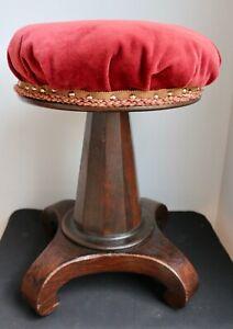 Piano stool, Classical Empire, Rosewood, c1830