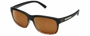 Suncloud-Stand-Polarized-Sunglasses-Black-Tortoise-Havana-Fade-amp-Brown-AUTHENTIC