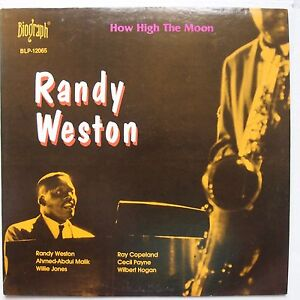 randy weston how high the moon biograph jazz vinyl lp. Black Bedroom Furniture Sets. Home Design Ideas