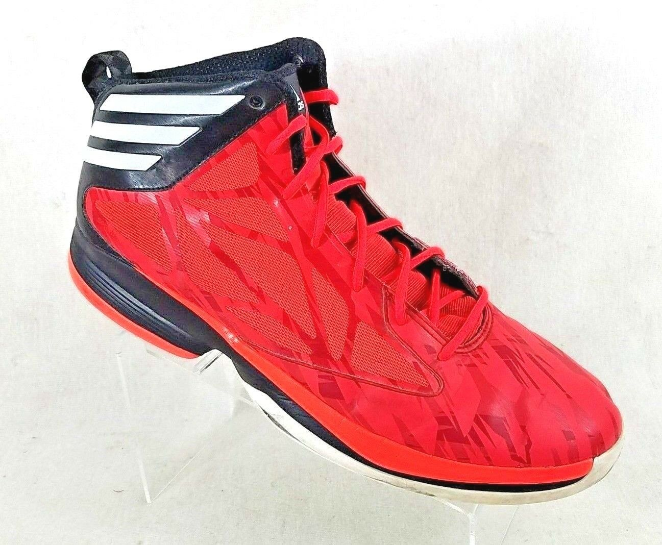 Adidas Orange Leather High Top Basketball Sneakers APE 779001 Men's US Comfortable Cheap and beautiful fashion