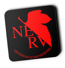 Evangelion Nerv Wood Coaster For Mugs/Cups Geeky Anime