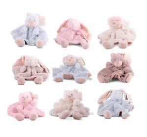 1-x-Babytuch-rundes-Schmusetuch-Baer-Hase-Affe-Schnuffeltuch-Kuscheltier-Nr-2