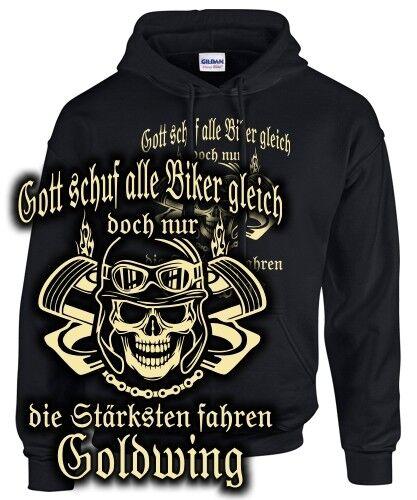 Biker Sweatshirt goldWING Tuning Zubehör Spruch NUR DIE STÄRKSTEN FAHREN fun
