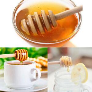 2-10PCS-Mini-8cm-Wooden-Jam-Honey-Dipper-Wood-Stirring-Rod-Stick-Syrup-Spoon-HS