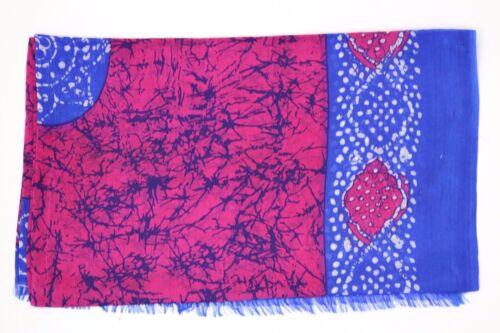 Pink Batik Scarf 100/% Silk Scarf Ladies Handmade Indian Batik Resist Technique