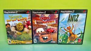 Antz-Extreme-Racing-Cars-Mater-Shrek-Racing-PS2-PlayStation-2-Disney-Game-Lot