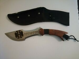 """Tracker Knife Engraved with Viking Ruins """"Valhalla"""" & Celtic Knot"""