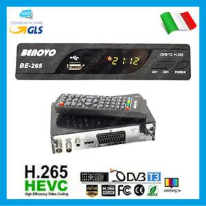 DECODER RICEVITORE DIGITALE TERRESTRE DVB-T2 TV HDMI H.265 PVR RECORD SCART