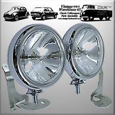 Bmw Mini Mk1 One Cooper S Sport Chrome Spot lights Fog Lamps & Custom Brackets
