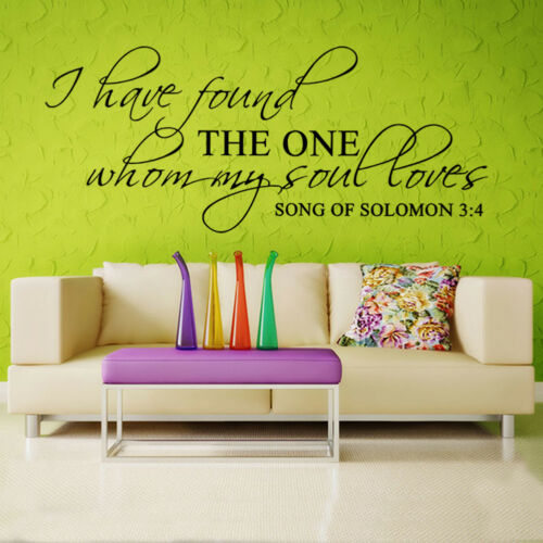 Song of solomon 3:4 Bible Verse Vinyl Wall Stickers Decals Scripture Quote Decor