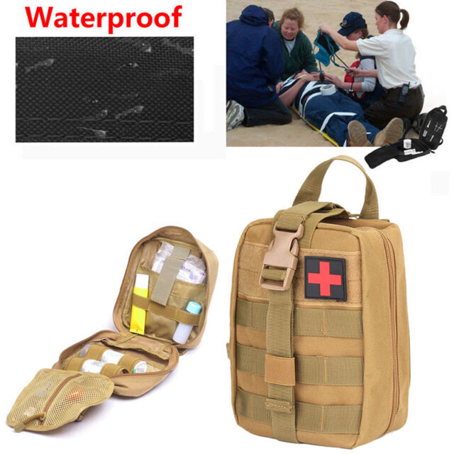 Durable First Aid Kit Tactical Survival Kit Molle Rip-Away EMT Pouch Bag-MeD_dm