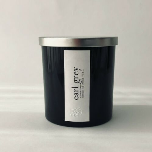New Atelier 880 Earl Grey Scented Soy Candle Black Glass