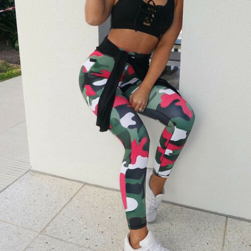 Damen Sport Yoga Gym Fitness Leggings Tights Jogginghose Leggins Trainingshosen