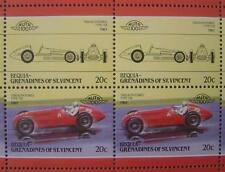 1950 ALFA ROMEO Type 158 Race Car 50-Stamp Sheet / Auto 100 Leaders of the World