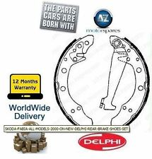SKODA FABIA ALL MODELS 2000-- ON NEW DELPHI REAR BRAKE SHOES SET