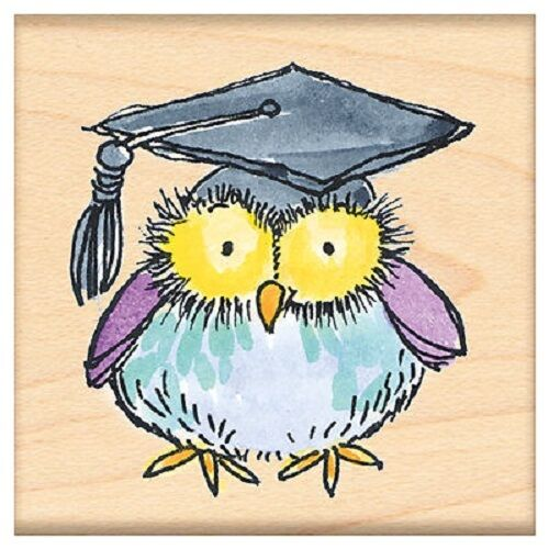 PENNY BLACK RUBBER STAMPS VERY WISE OWL NEW STAMP 2013