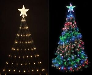 Image Is Loading 160 LED TREE NET CHRISTMAS LIGHT WITH STAR