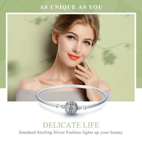 Bamoer .925 Sterling Silver Bracelet Fermoir Boule délicate avec la zircone cubique pour femmes