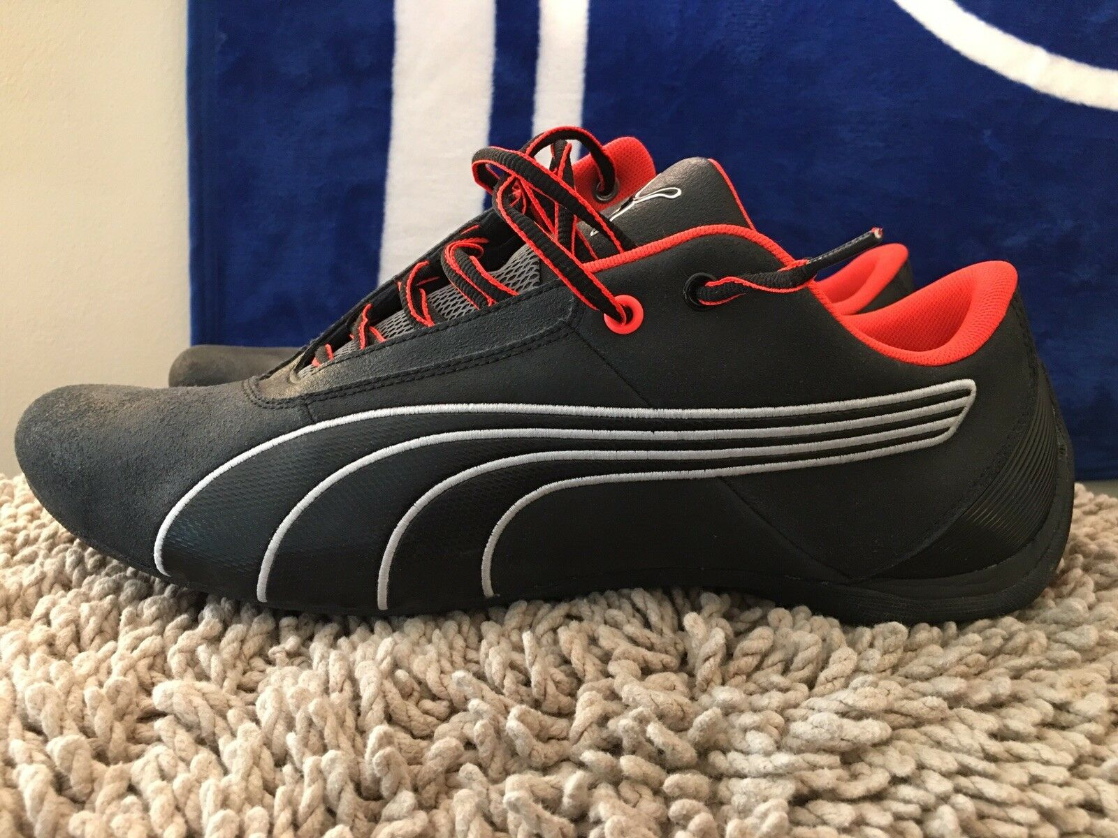 Puma Future Cat S1 Night cat, 305530 04, Black / Neon Orange, Men's Size 14, New