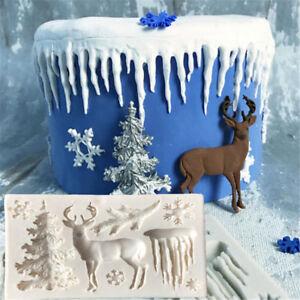Christmas-Tree-Elk-Snowflake-Fondant-Cake-Mold-DIY-Sugarcraft-Decor-Baking-To-uW
