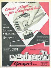 PUBLICITE ADVERTISING 125  1960  Peugeot Frères brosse a chaussures éléctrique