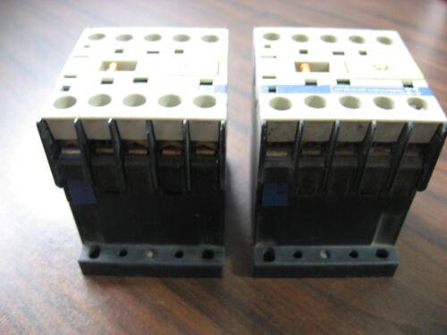 Lot of 2 Telemecanique CA2KN31 F7 Control Relays With 110 Volt Coil