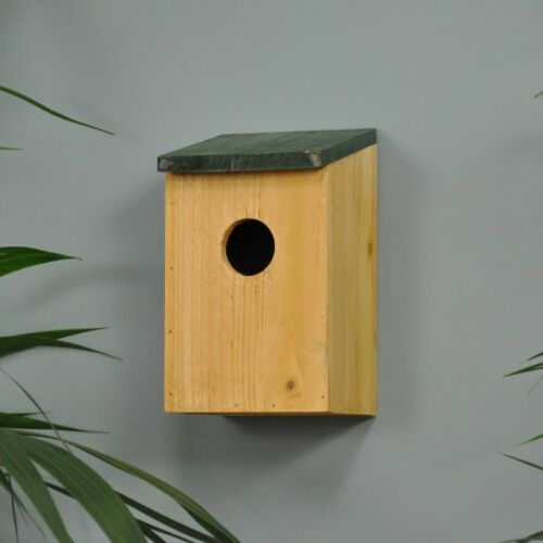 Traditional Wooden Bird House Small Wild Garden Birds Home Nesting Box With Lid