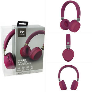 45609669e478bb Image is loading Genuine-Kitsound-Harlem-Wireless-On-Ear-Bluetooth- Headphones-