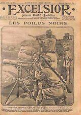 Poilus Tirailleurs Sénégalais Mitrailleuse Machine Gun Maneuvers Africa WWI 1915
