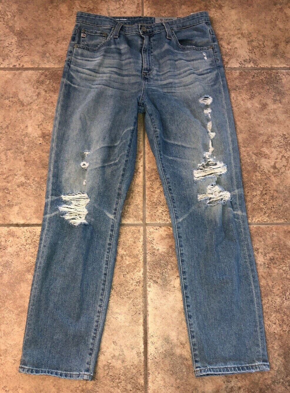 Adriano goldschmied THE PHOEBE Womens High Waist Tapered Leg Jeans Size 30R