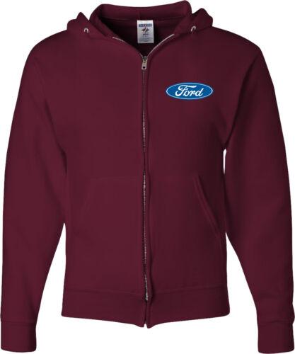 Ford Oval Full Zip Hoodie Pocket Print