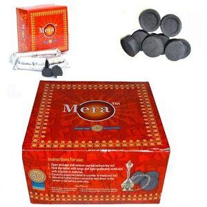 80 Disc Charcoal Genuine Coal bakhoor bukhoor Mera Meera Hookah burner sheesha